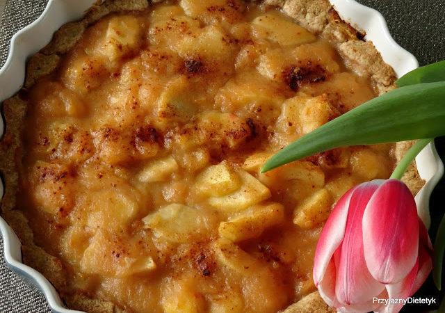 Cieciorkowa tarta z jabłkami
